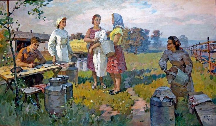 5b54fbc88752009ecc4cff74bf590895--socialist-realism-soviet-art
